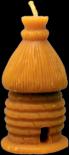 Svíčka slaměný úlek váha 75g výška 9cm cena 30,-